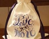 For KristinMartin561 Mazel Tov Groom's Glass Smash Bag I Love You More