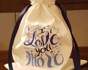 Mazel Tov Groom's Glass Smash Bag I Love You More