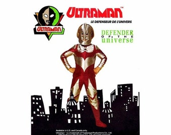 SALE Ultraman Costume Defender of the Universe McCalls 6215 Vintage Sewing Pattern Jumpsuit Mask Spats Childrens Size 2 - 4 UNCUT