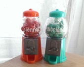 Personalized Gumball Machine - Birthday Party Favor - 5 COLOR CHOICES