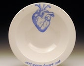 ON SALE eat your heart out cereal bowl in Blue SALE Item