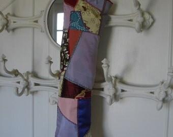 Christmas*Crazy quilt A Christmas stocking*Spectacular*1900's antique crazy quilt fabric