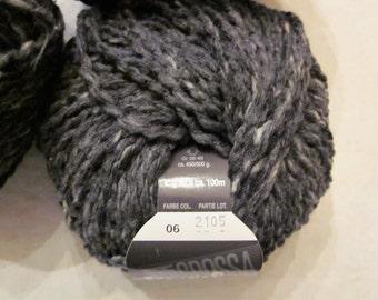 Royal Tweed-Merino Wool-Charcoal Gray Tweed 06-All Profits go to Charity