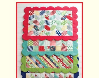 SALE - Scrappy Placemats quilt pattern from Cotton Way - mini charm pack friendly
