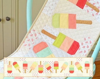 MINI Popsicles quilt pattern wall hanging from Fig Tree and Co.