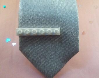 White Building Brick Tie Clip