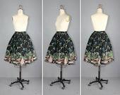 R E S E R V E D novelty skirt / vintage skirt / 1950s / CASTAWAY cotton skirt