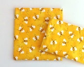 Reusable Snack Bag, Sandwich Bag in Honey Bees, Bumble Bees