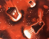 Doctor Who Tardis & Dalek fabric, hard to find 1 yard