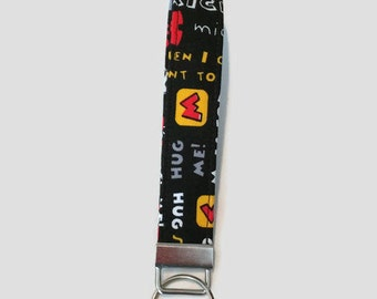Whimsical Mickey Mouse Keychain Wristlet