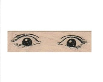 rubber stamp eye eyesWoman facial features face  rubber stamp 8371