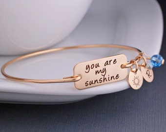 You are my Sunshine Bracelet, Sunshine Jewelry Gift, Sunshine Jewelry for Kids, Gift for Daughter, Gift for Granddaughter