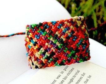 Macrame Cuff Bracelet, Hand Knotted Hemp Bracelet, Hemp Bracelets, Organic Jewelry