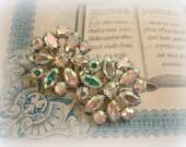 bRilliant b david vintage rhinestone earrings crystal ab rhinestones signed b david