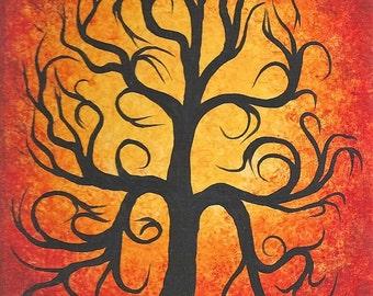 Tree painting, Abstract tree art, Original Acrylic Painting, Wall Art
