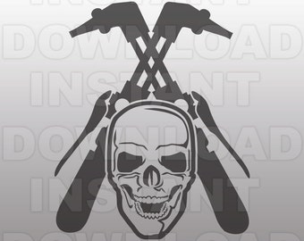 Welder Skull SVG File,Welding SVG File,Skilled Trades SVG-Cutting Template-Vector Clip Art-Commercial & Personal Use-Cricut,Cameo,Silhouette