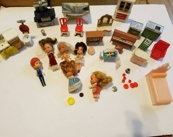 Vintage Littles and Blue Box Lot