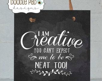 """Craft room Door Sign, Craftroom wall decor, Sewing Room Decor, 8X8"""" Wall Art"""