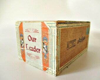 Vintage Cigar Box, Our Leader, Sondres