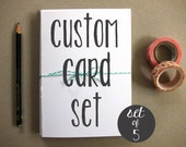 Set of 5 Cards - Custom Card Set - Greeting Cards - Blank Greeting Cards - Set of Greeting Cards - Custom Set of 5 Greeting Cards