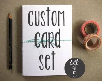 Set of 5 Cards - Custom Card Set - Greeting Cards - Blank Greeting Cards - Set of Greeting Cards - Custom Set of 5 Greeting Cards