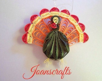 Quilled Turkey Ornament