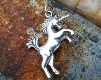 Unicorn Necklace Charm - Sterling Silver Unicorn Necklace