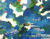 Original acrylic painting, fine art wall decor, coastal painting, colors of Greece, fine art wall decor, abstract coastal