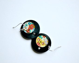 Harbinger Collection Riveted Tin Earrings