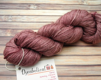 Mauves on the Move Alpaca Silk Lace Yarn Hand Dyed Yarn - In Stock