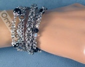 Multi Chain Bracelet Chainmaille Byzantine Weave Stainless Steel Mixed Chains All Colors Add Birthstone Jewelry Black Clear Pink Blue Red