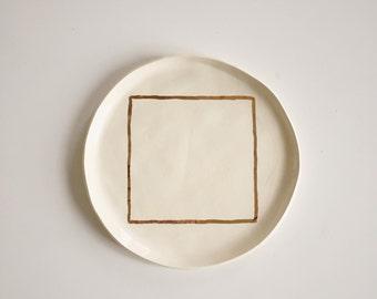 Golden Geometry Plate
