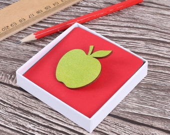 Teachers Thank You Apple Brooch - end of term gift - teachers gift - thank you teacher - best teacher