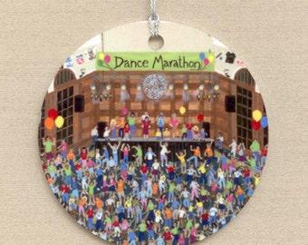 Cancer Fight, Dance Marathon Ornament, Fund Raiser