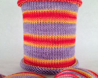High Biscuits: Hand-dyed gradient self-striping sock yarn, 80/20 SW merino nylon