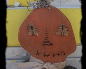 ChristmasinJuly Sale Primitive Pumpkin Pie Doll