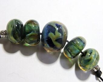 Lampwork Beads AQUATICL Two Sisters Designs 061916J