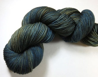 Hand Dyed Superwash Merino and Nylon 2-Ply Sock Yarn -- The Moody Menswear of Outlander
