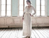 Early 1910s A. Reichenbach of Paris Ivory Crepe Chiffon Gown XS