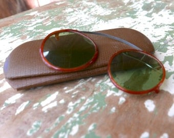 F. G. Co. Clip On Celluloid Sunglasses