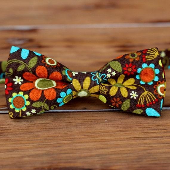 Varer, der ligner Mænds brun blomster Bowtie - Sløjfe til mænd Teen dreng - moderne stilfuld-5881