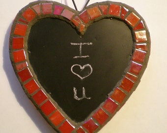 Chalkboard Mosaic Heart Wall Art Great for Valentine's Day