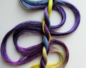 """Size 40 """"Pansy"""" hand dyed thread tatting crochet cotton"""