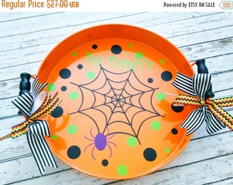 ON SALE Personalized Halloween Tray