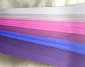 """1/4"""" Weaving Paper Strips~ Shades of Bright Purples (100 strips)"""