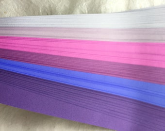 "1/2"" Weaving Paper Strips~ Shades of Bright Purples (100 strips)"