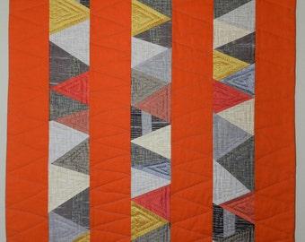 Modern Art Quilt, Improv Quilt, Wall Quilt, Minimalist Quilt
