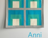 Anni, a PDF modern quilt pattern in two sizes, by Heather Jones