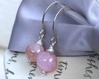 Morganite Stone earrings - Pink or Blue