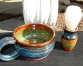 Shaving Kit in Rich Orange and Rutile Blue